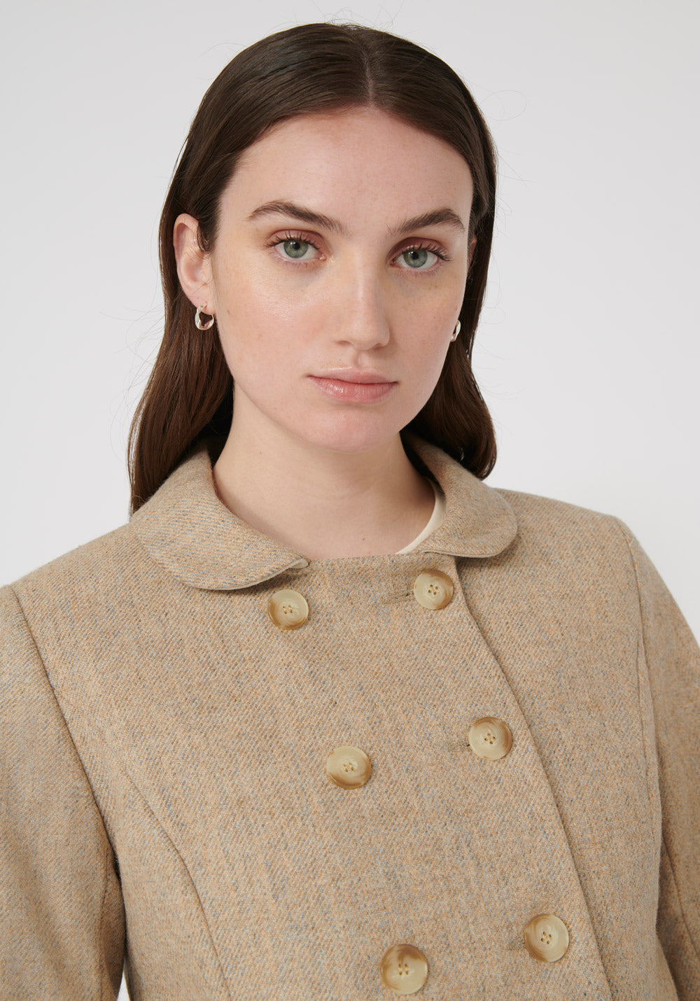 Artist Jacket | Pebble Peach Wool closeup