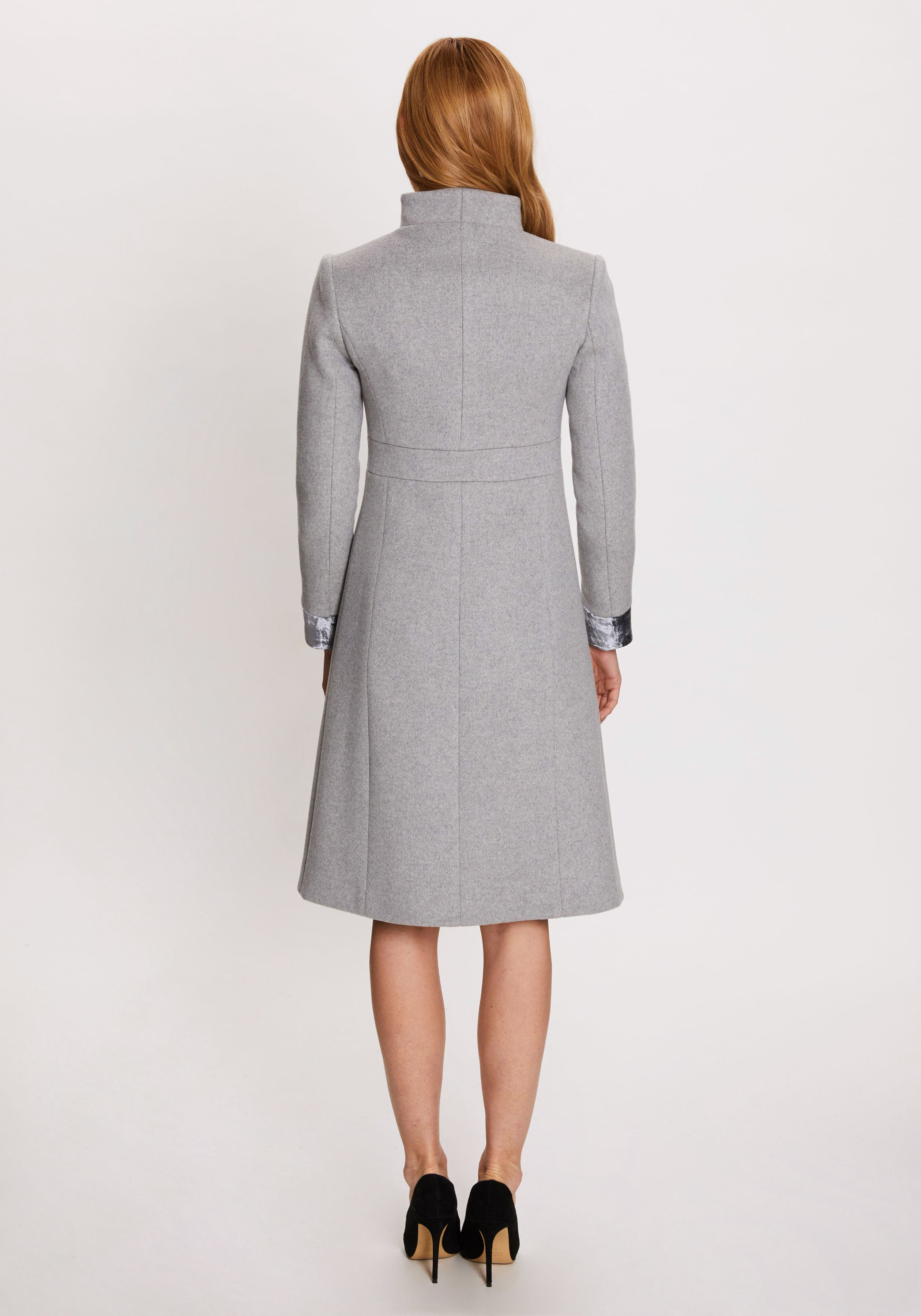 Buxton Coat in Pale Grey