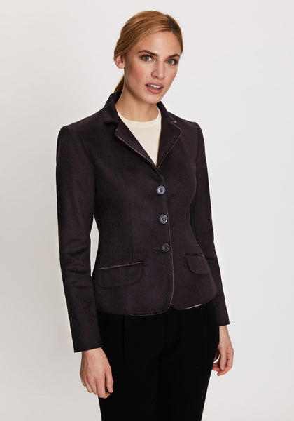 Daisy Jacket in Aubergine
