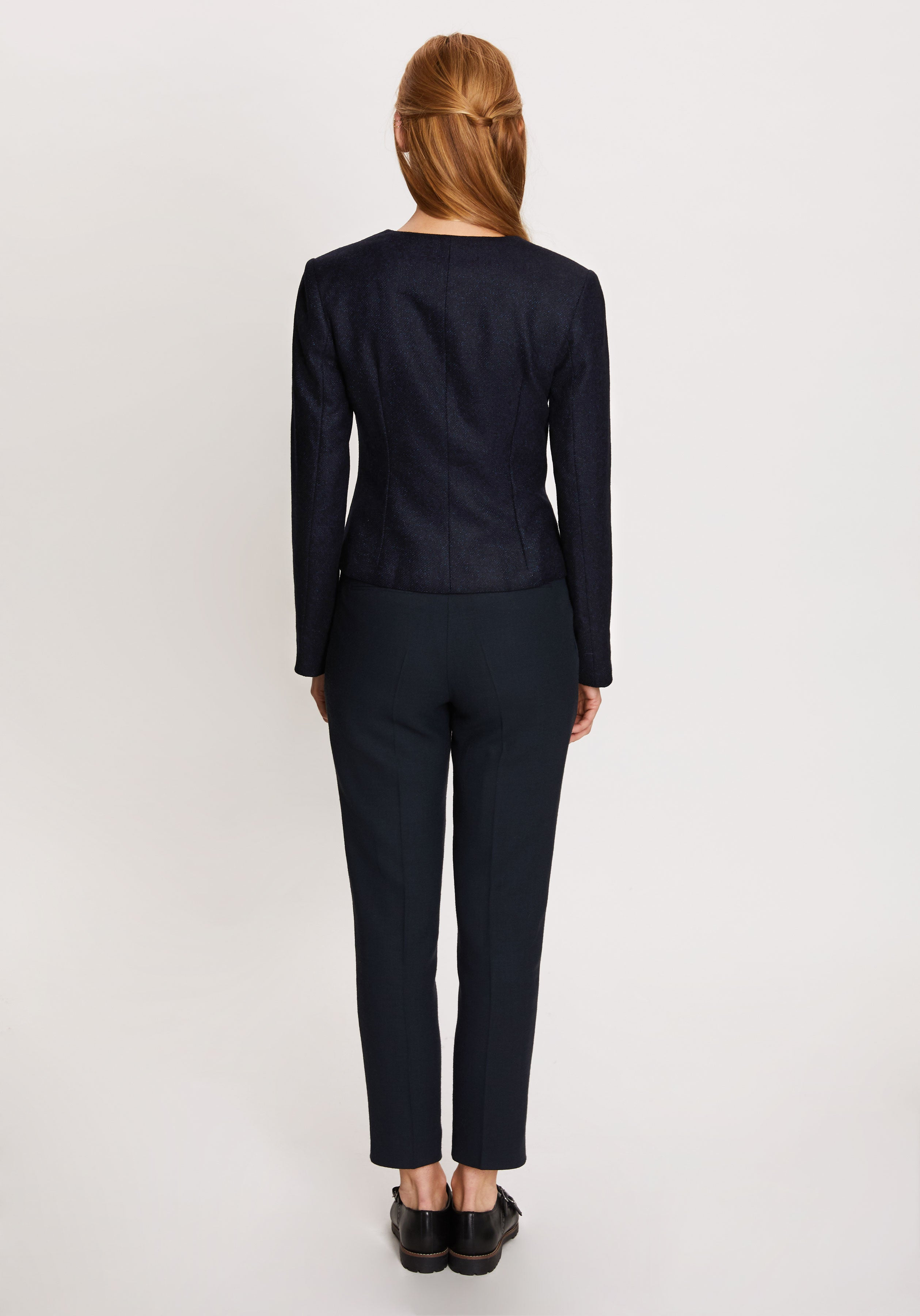 Sophia Jacket in Navy with Sapphire Fleck