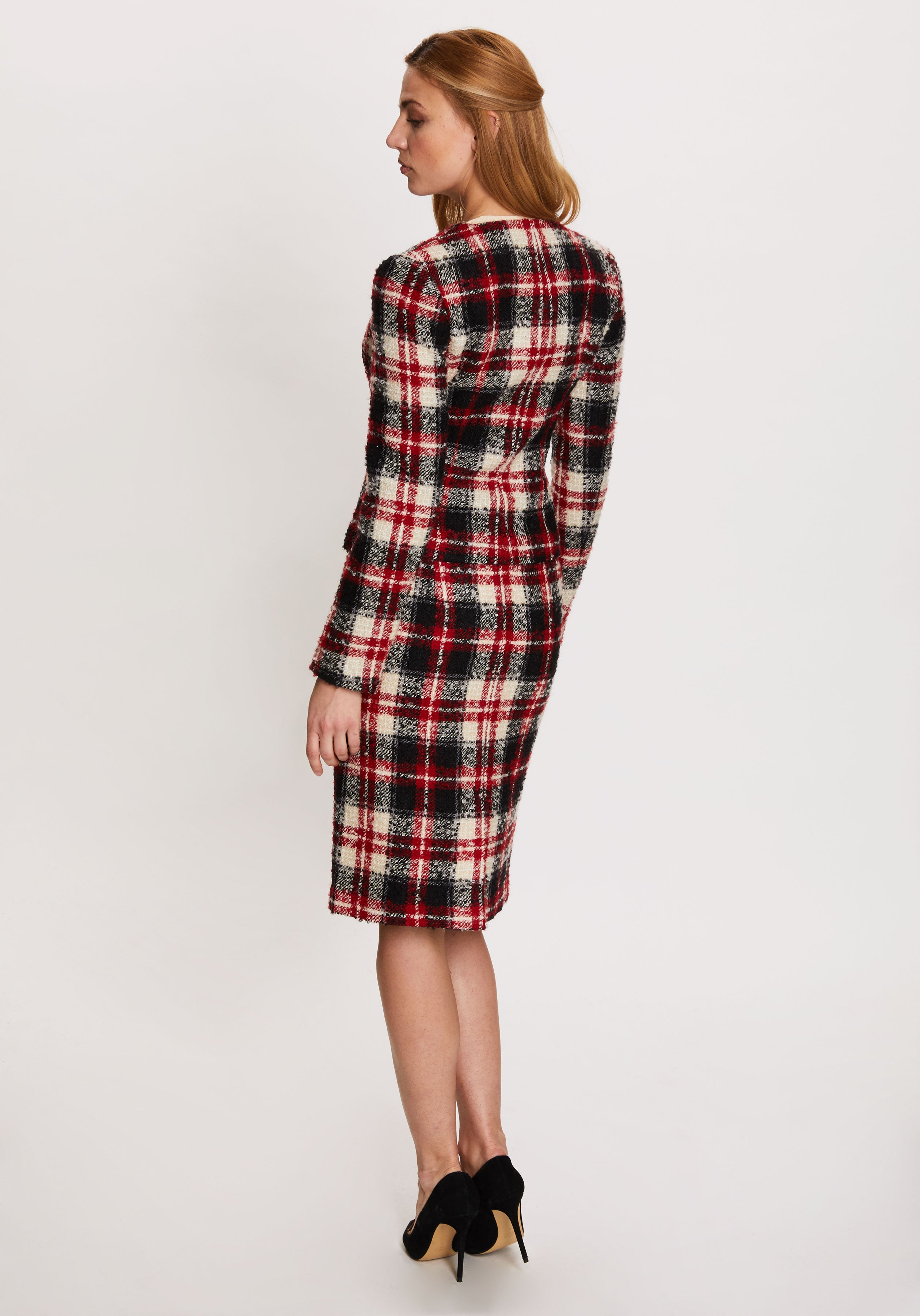 Sophia Jacket in Red and Black Check