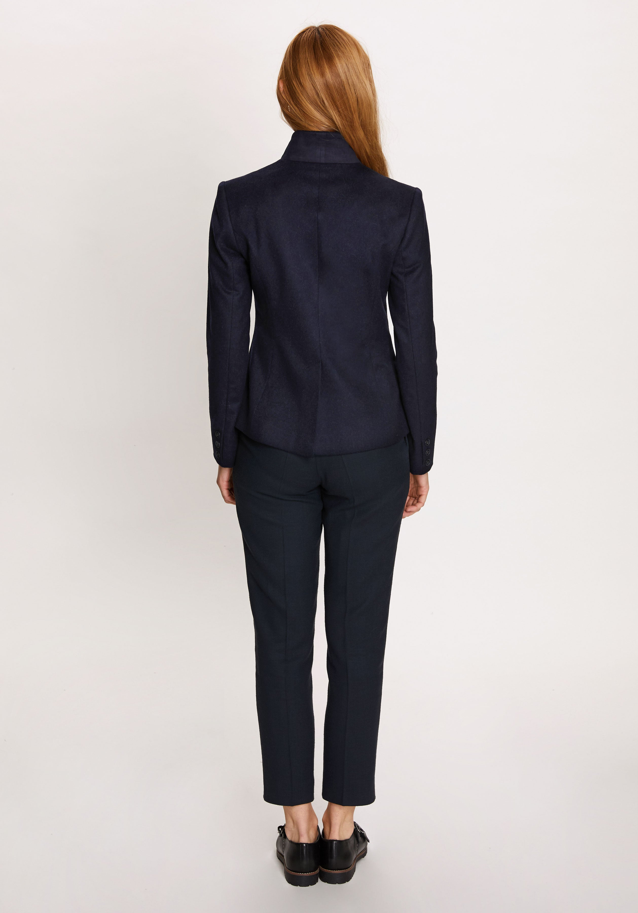 Tallulah Jacket in Navy Cashmere
