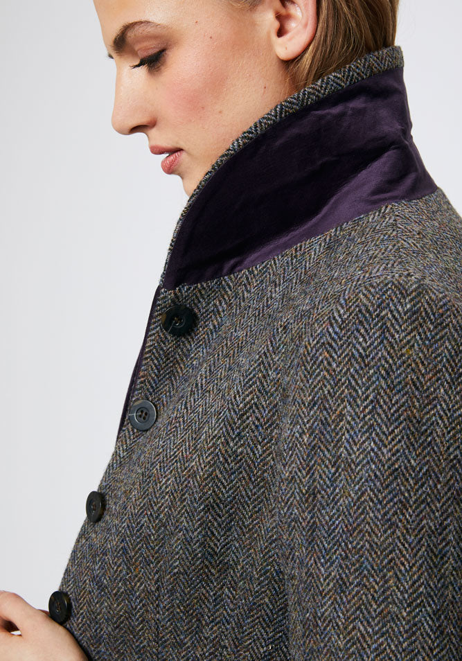 Alexander Coat | Heather Herringbone