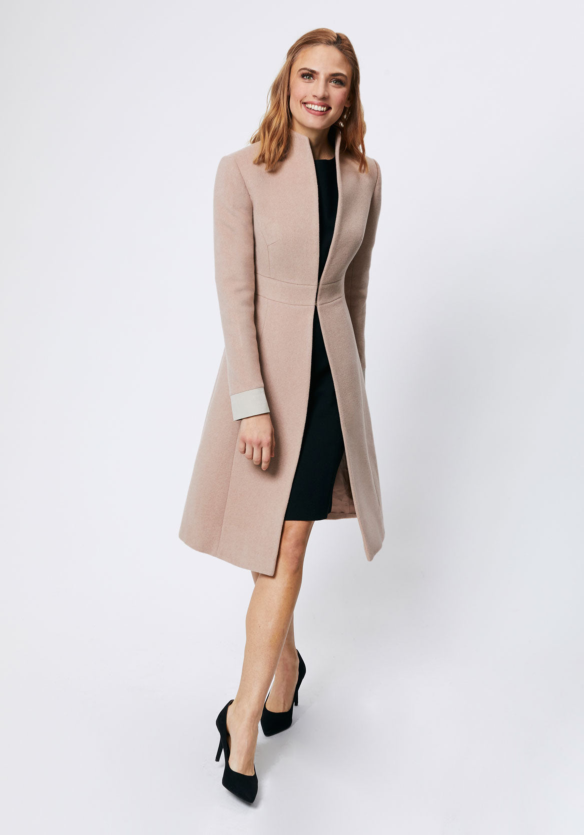 Dusty pink cashmere coat