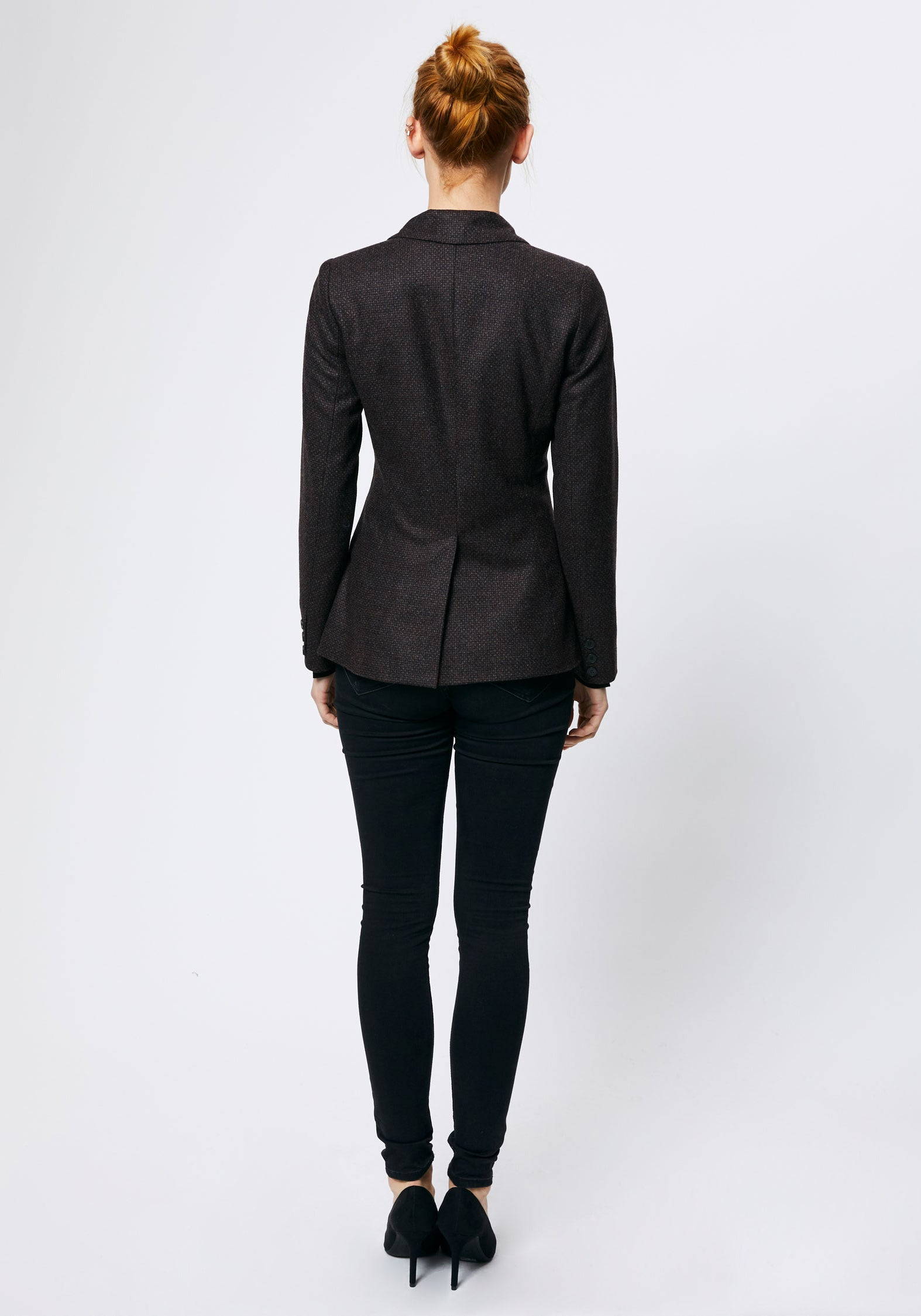 Phene Jacket in Black Wool