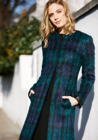 Contrast Coat | Cornflower Blue