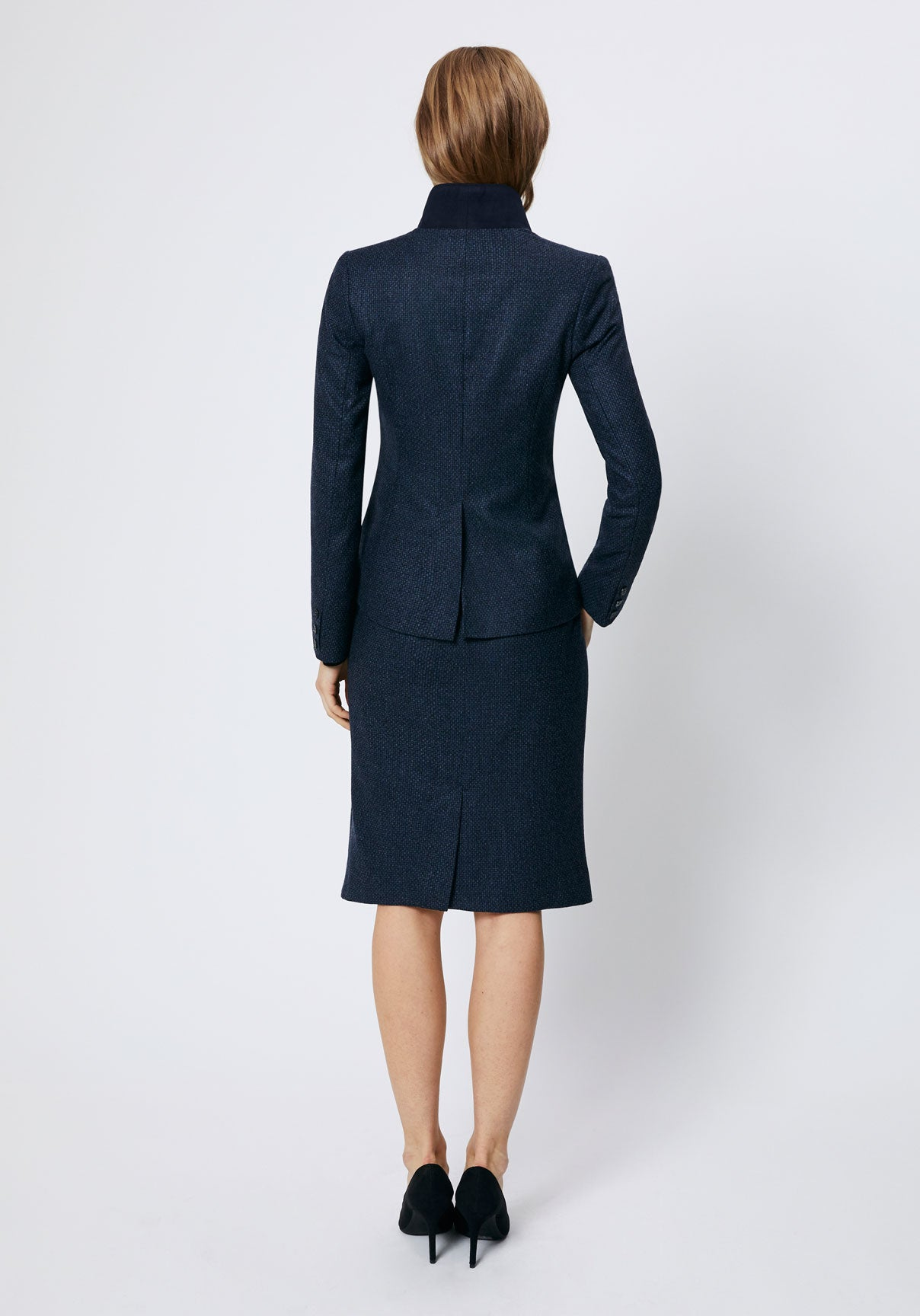 Tallulah Jacket | Navy Pebble Wool