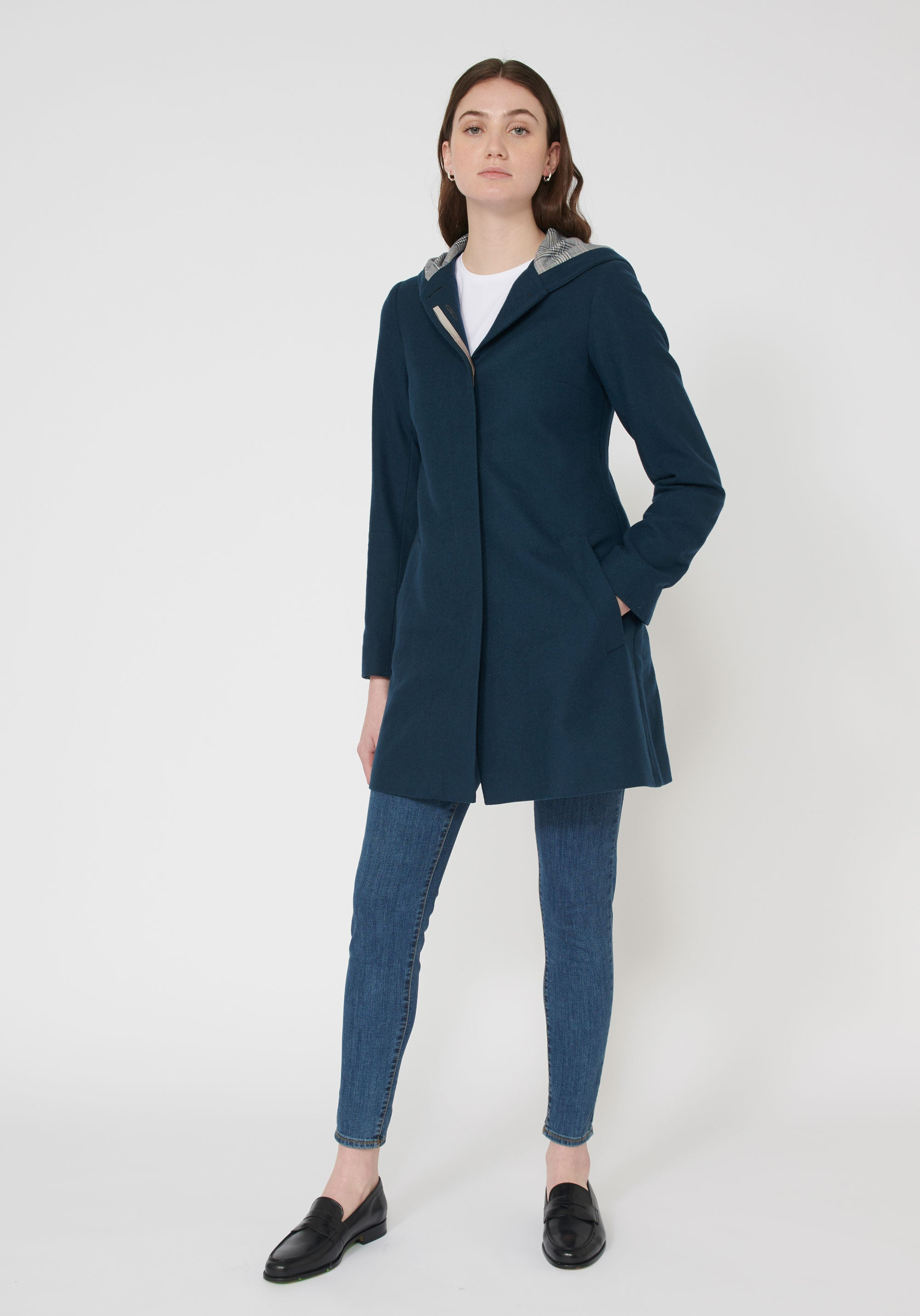 Franklin coat Antique Blue