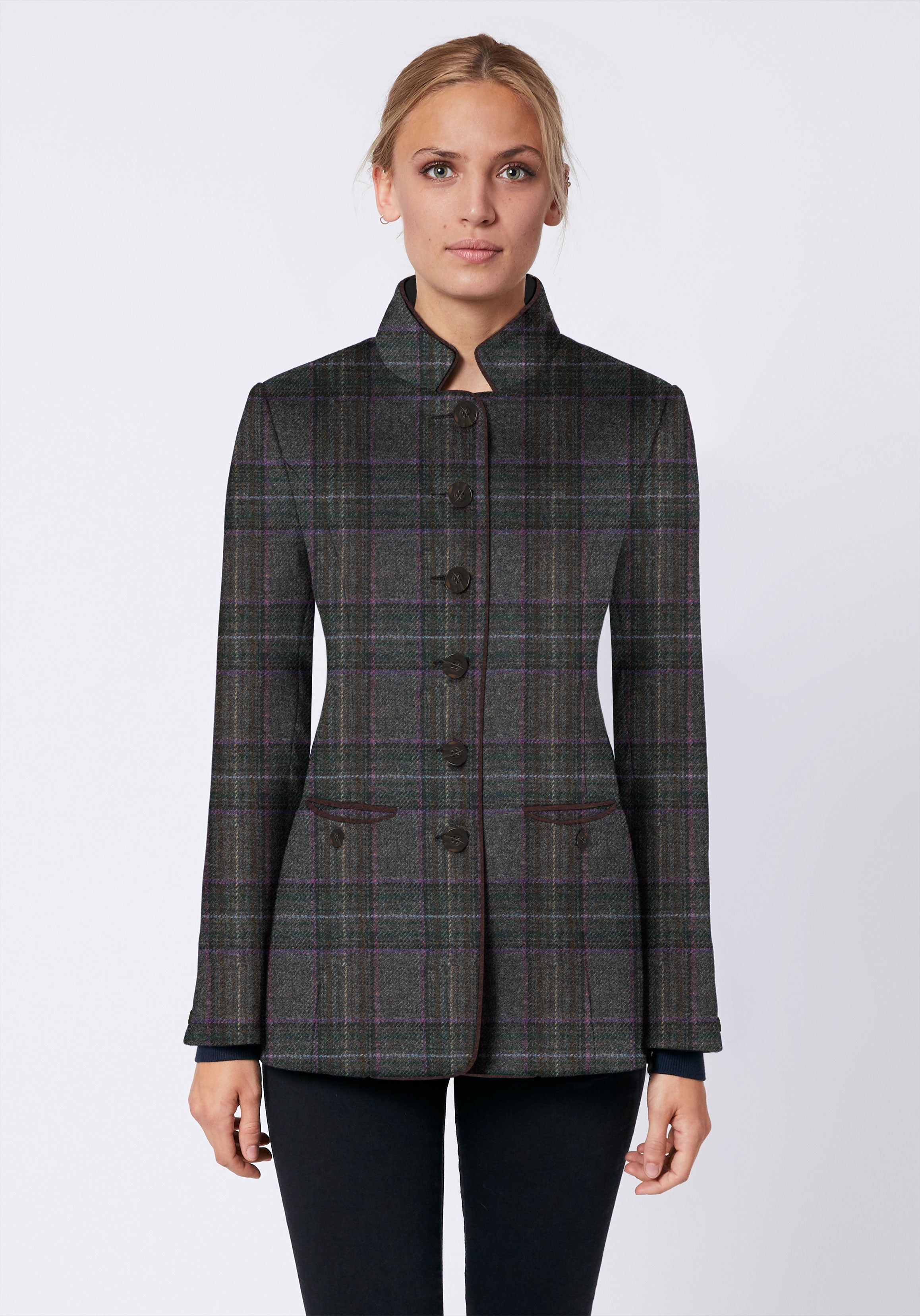 Patmos Jacket in Purple Check