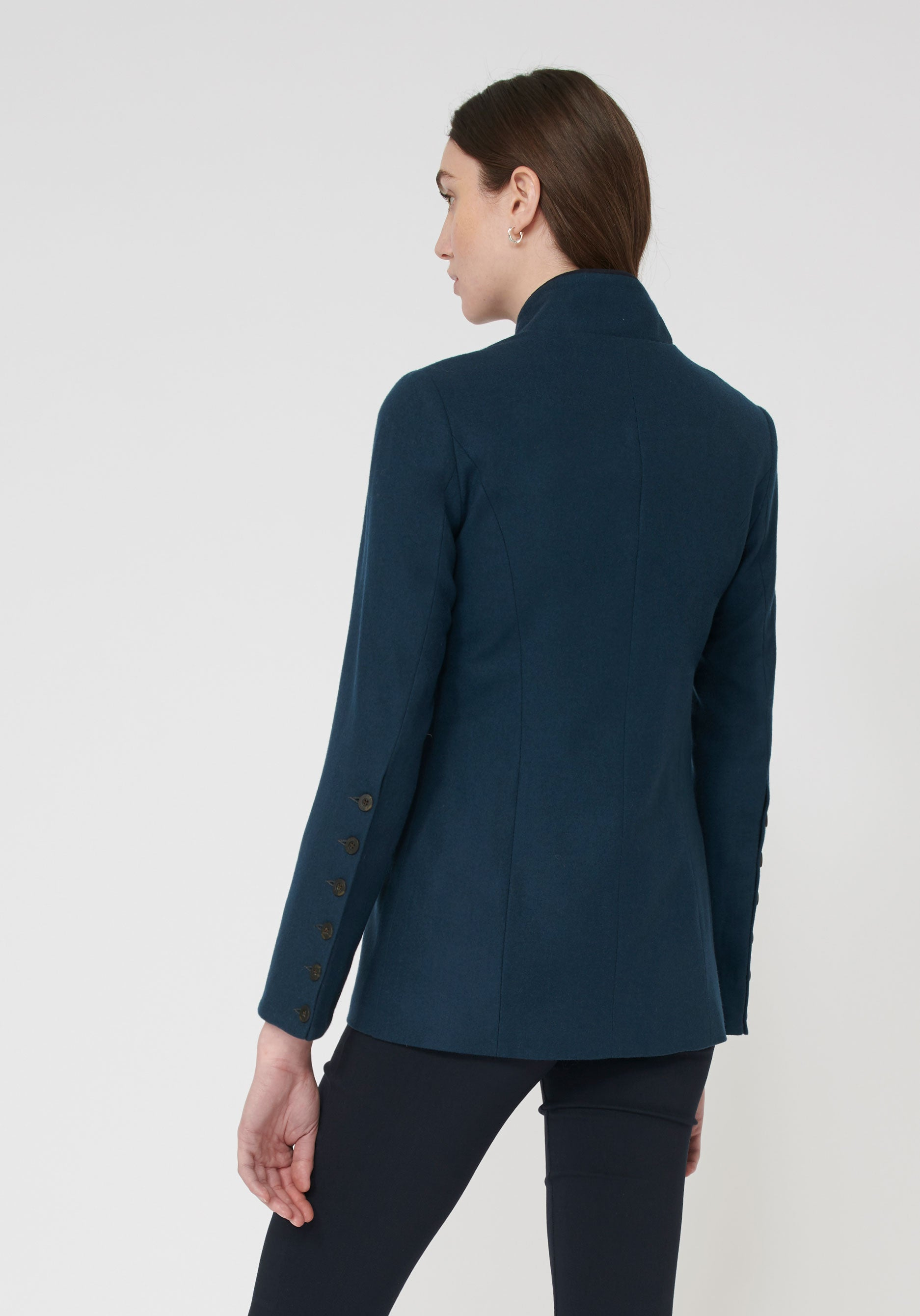 Patmos Jacket Antique Blue.  (Back)