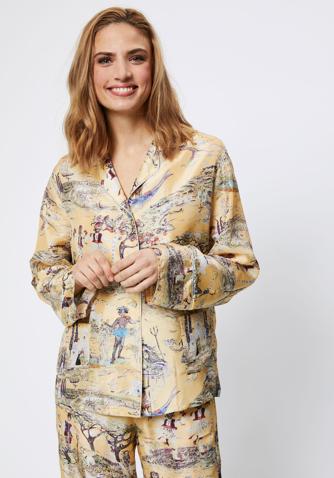 Citron Silk Pyjamas