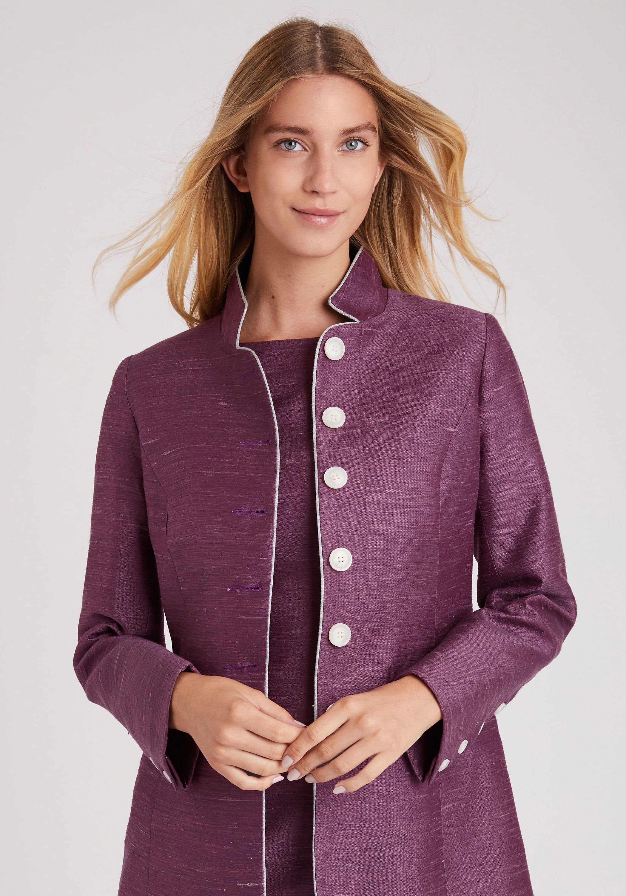 Patmos Jacket in Dahlia Purple Vienne Silk