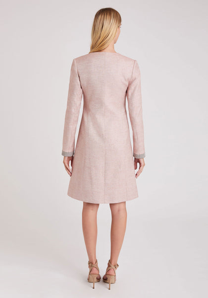 Tallulah Coat in Pale Pink Acer