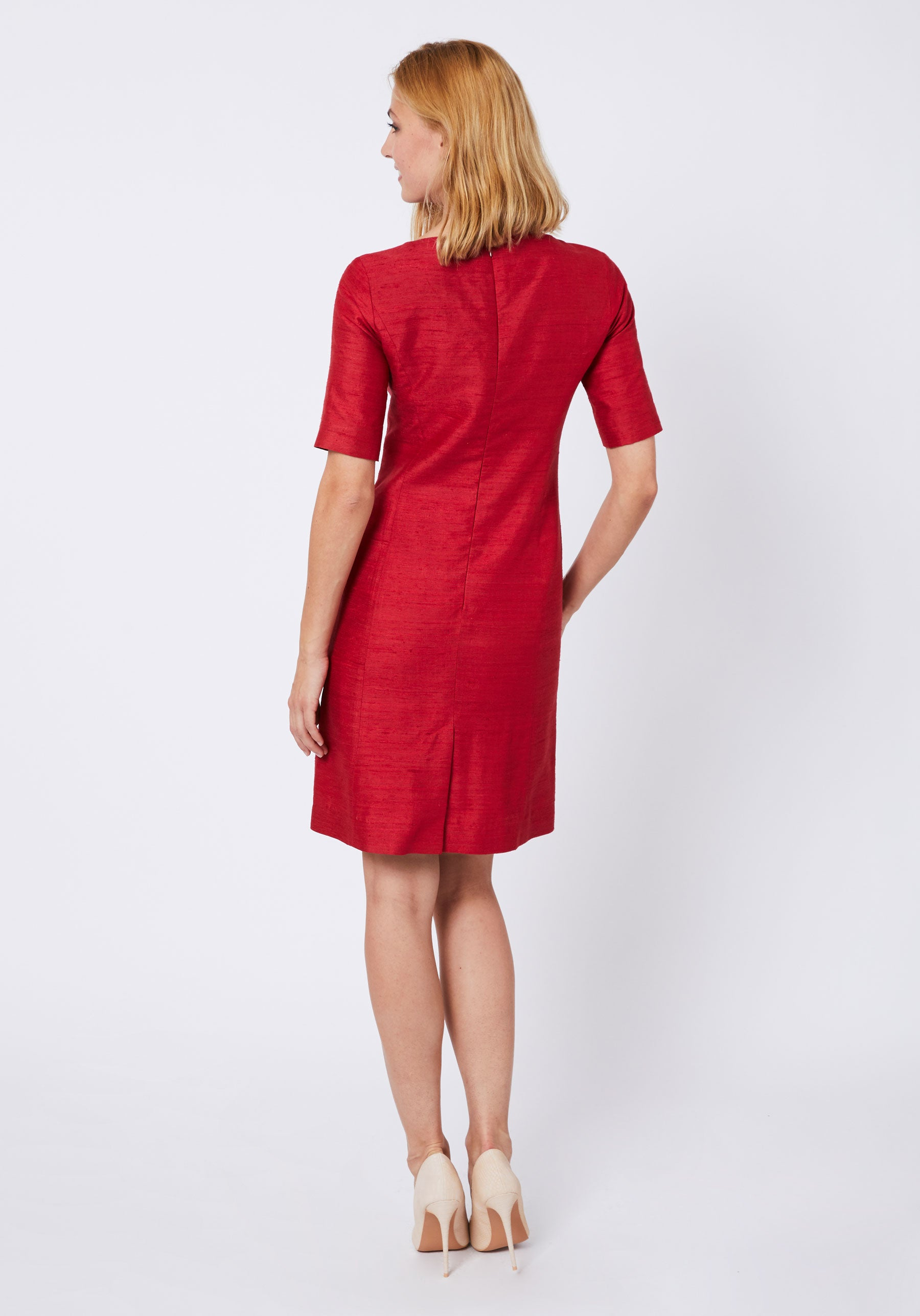 Ascot Dress in Strawberry Vienne Silk