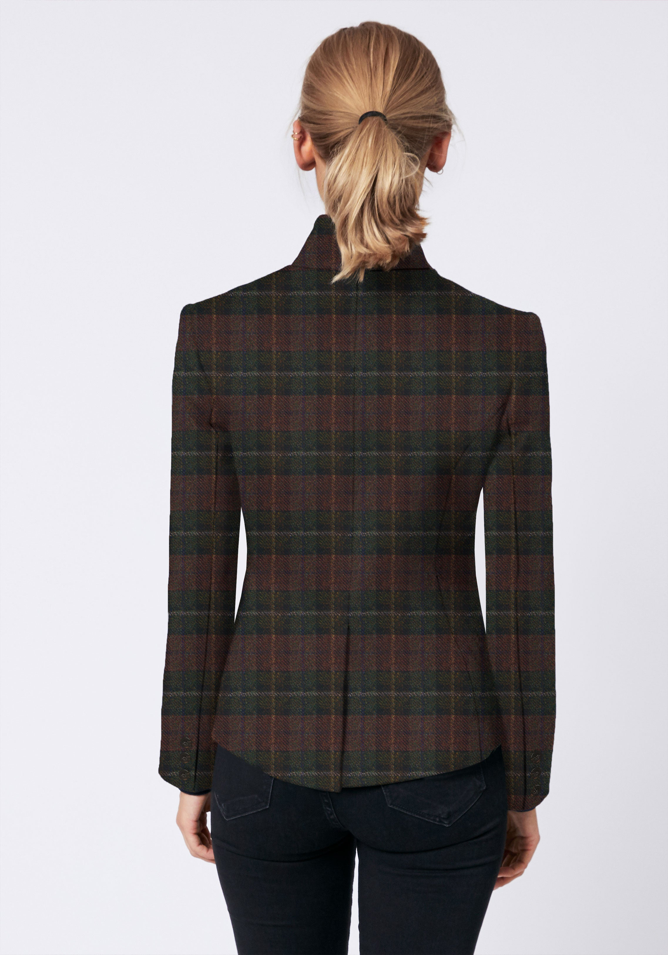 Tallulah Jacket in Brown and Green Check