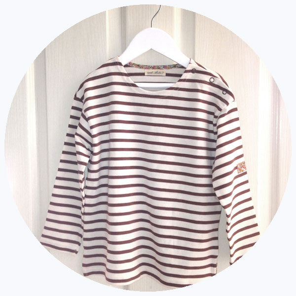 STRIPED LONG-SLEEVE TOP [SALE]