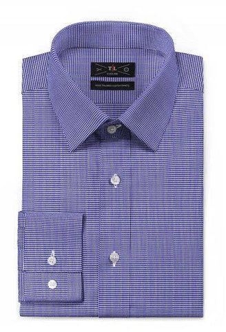 Royal Cotton - Blue houndstooth  shirt