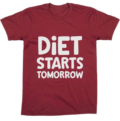 """ Diet Starts Tomorrow "" Tee"