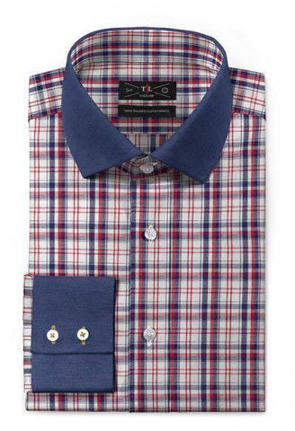 Royal Cotton - Red checked Lenin shirt