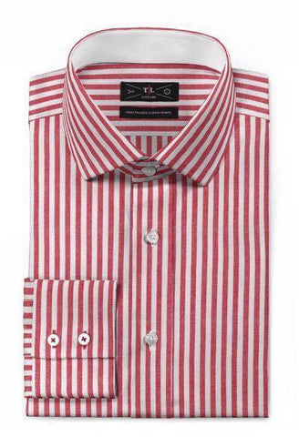 Royal Cotton - Red striped shirt