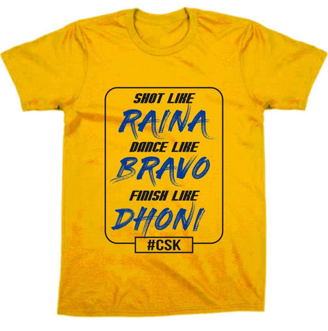 "CSK "" Finish Like Dhoni "" Ipl Tee"