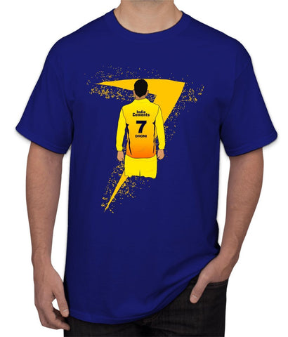 "CSK "" Jersey Number 7 "" Dhoni Ipl Tee"