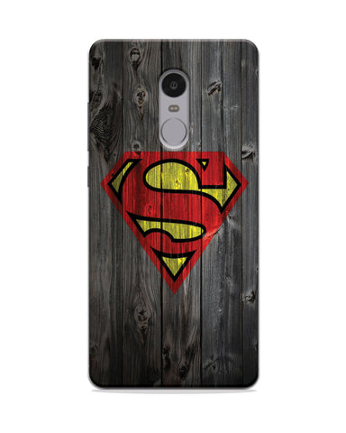 SuperMan Wood Effect Mobile Case