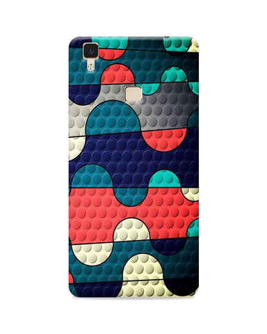 Multi Colour Tile Effect Printed Mobile Case