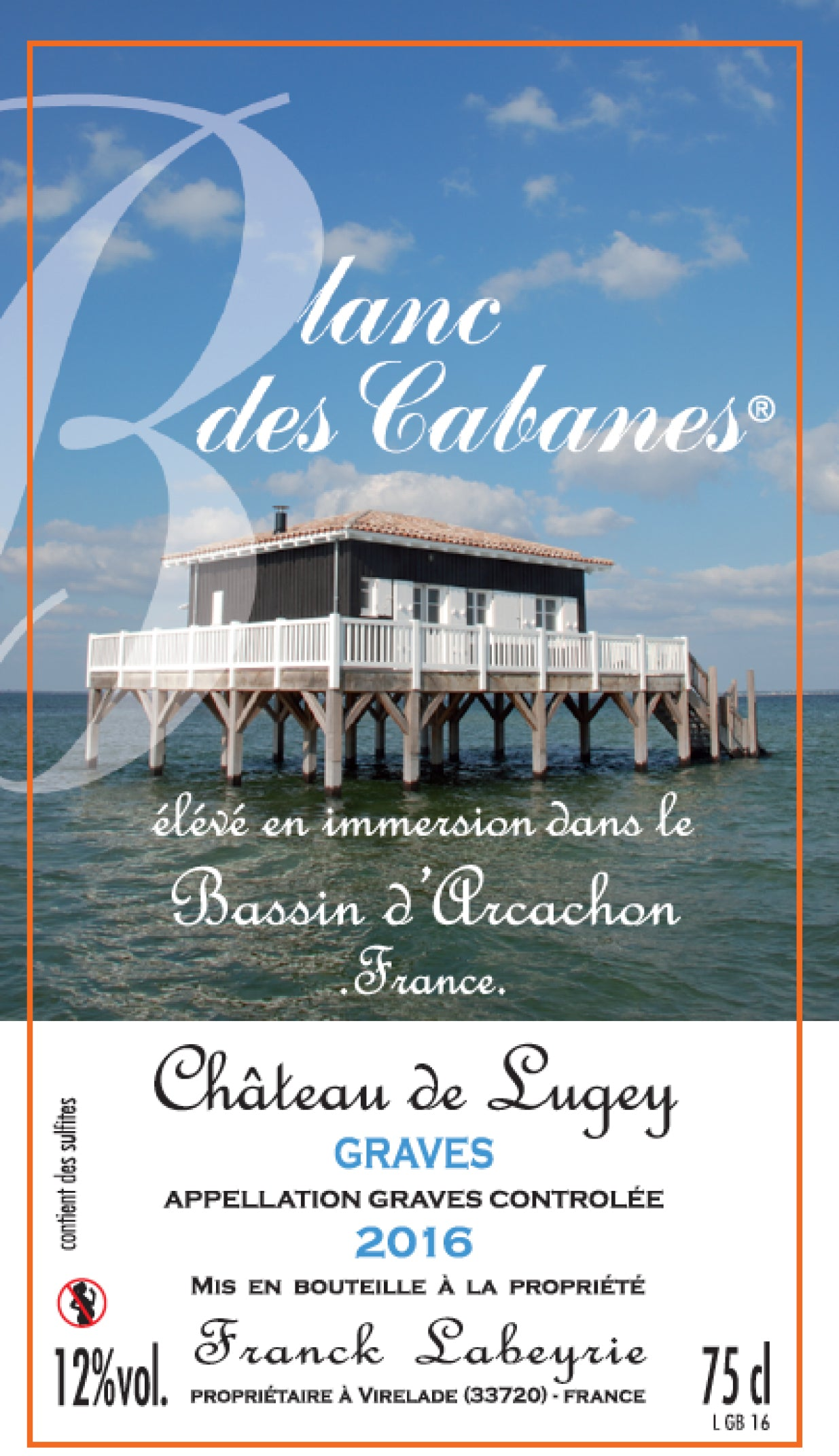 Château de Lugey Blanc des Cabanes 2016 (Sea-originated wine)