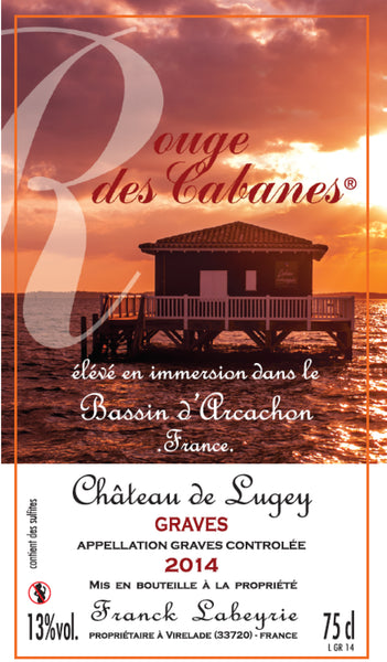 Chateau De Lugey Rouge Des Cabanes 2015 (Sea-originated wine)