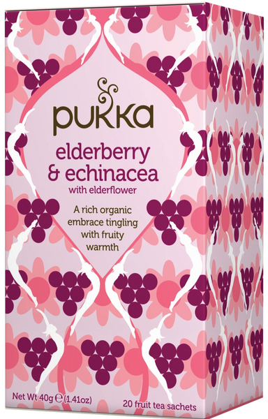 Pukka Elderberry & Echinacea Tea 接骨木果子紫錐花茶