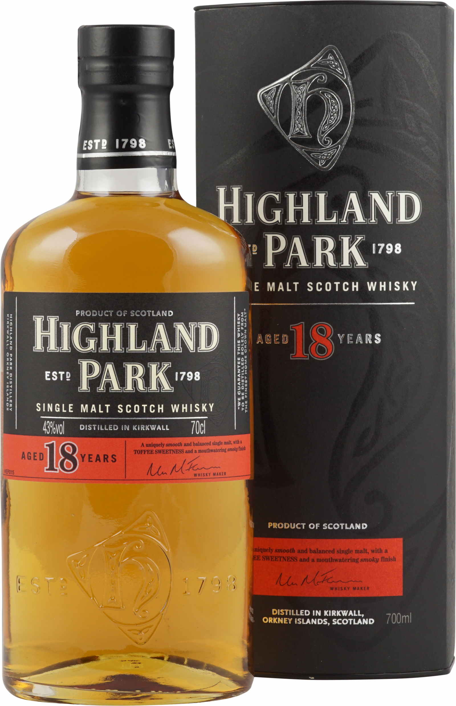 Highland Park 18 Year Old Scotch Whisky