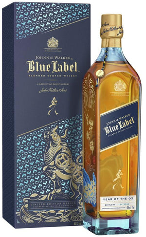 Johnnie Walker Blue Label 'Year Of The OX 2021' Scotch Whisky w/GiftBox
