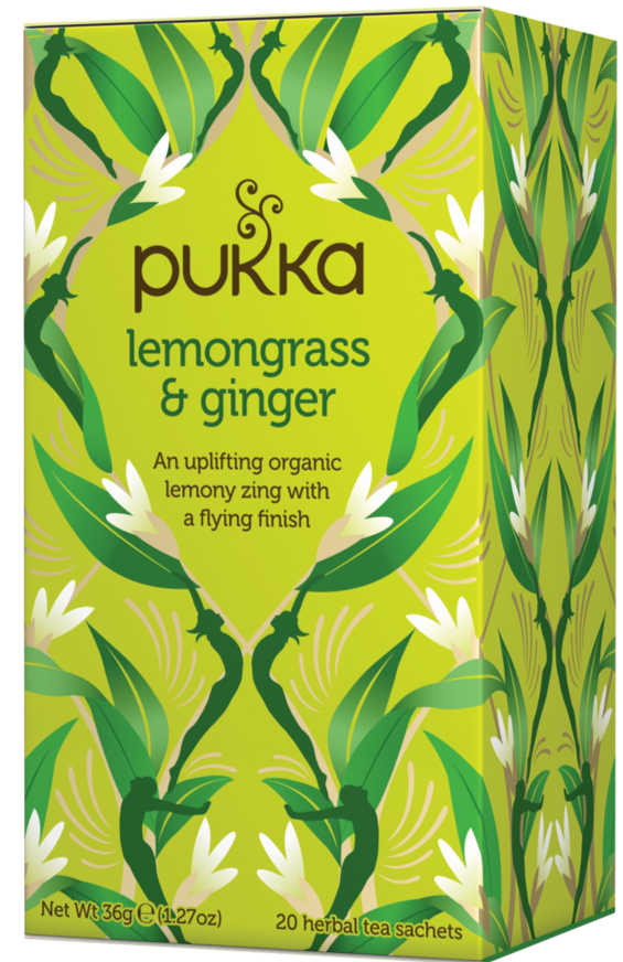 Pukka Organic Lemongrass & Ginger Tea 檸檬草薑茶