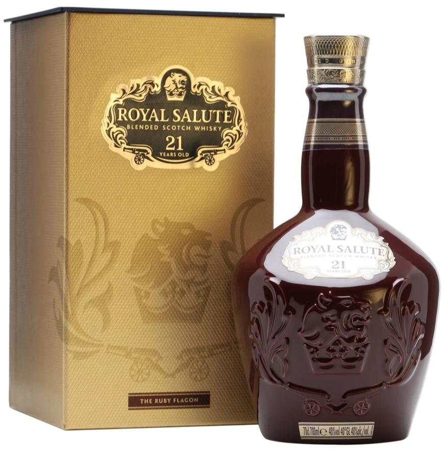 Chivas Regal Royal Salute 21 Year Old Scotch Whisky (New Bottling) (Random delivery on either Sapphire/Ruby Flagon)