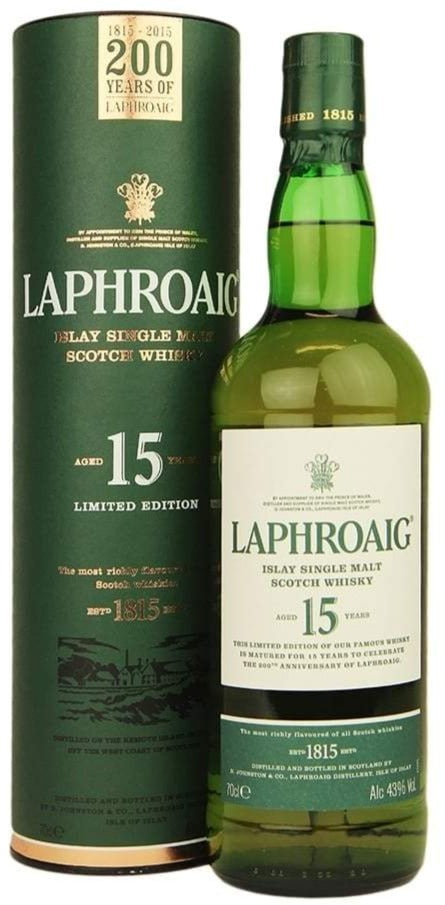 Laphroaig 15 Year Old Scotch Whisky