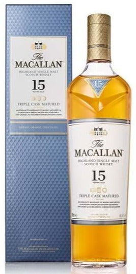 Macallan 15 Year Old Scotch Whisky Triple Cask w/Box