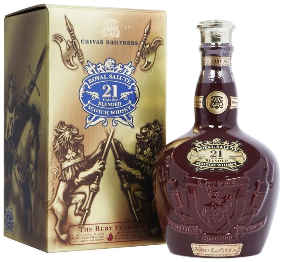 Chivas Regal Royal Salute 21 Year Old Scotch Whisky (Old Bottling) (Random delivery on either Emerald/Ruby Flagon)