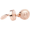 Cufflinks Lancaster Round L Rose Gold