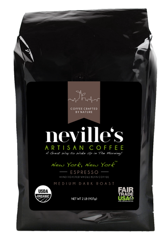 New York, New York™ ESPRESSO MEDIUM DARK ROAST 2lb Whole Bean Organic Coffee