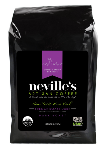 New York, New York™ FRENCH ROAST Dark Ground Organic Coffee 2 Lbs