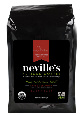 New York, New York™ CAFFE VERONICA Sweet Roasty Dark Roast Ground Organic Coffee 2 Lbs