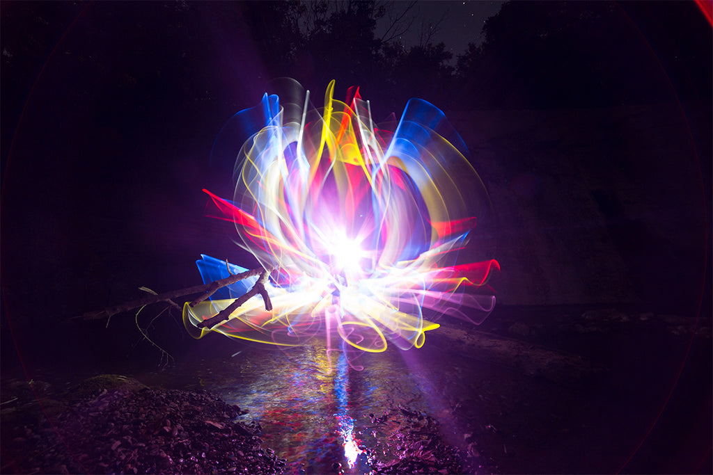 Light Painting Lotus