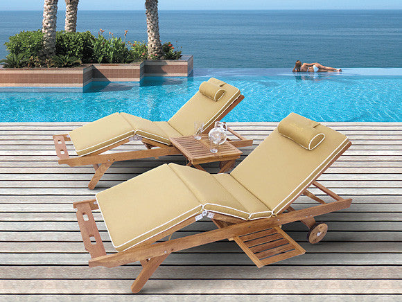 Sun Bed Lounger Fabulous Home And Patio Teak Outlet