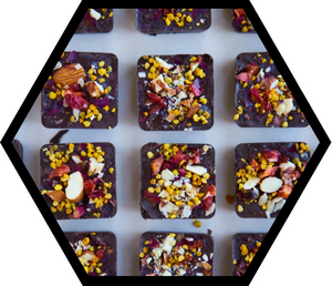 Superfood Chocolate Bark with Bee Pollen