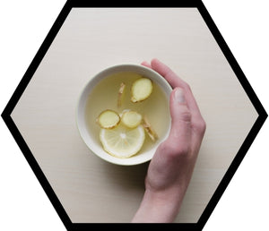 Ginger Honey & Lemon Tea for Cold & Flu