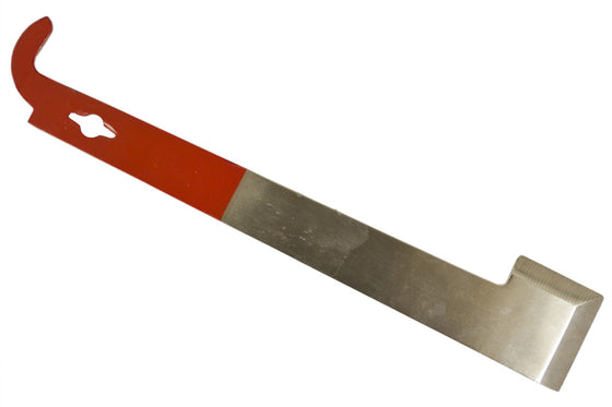J Hook Stainless Steel Hive Tool - Red