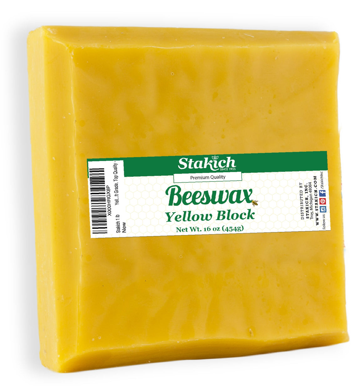 Yellow Beeswax (Craft) Blocks (40 lb)