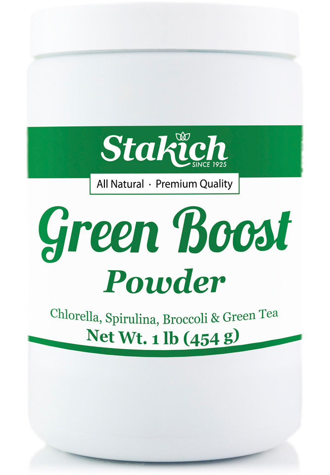 Green Boost Powder (Chlorella, Spirulina, Broccoli, Green Tea Powder)