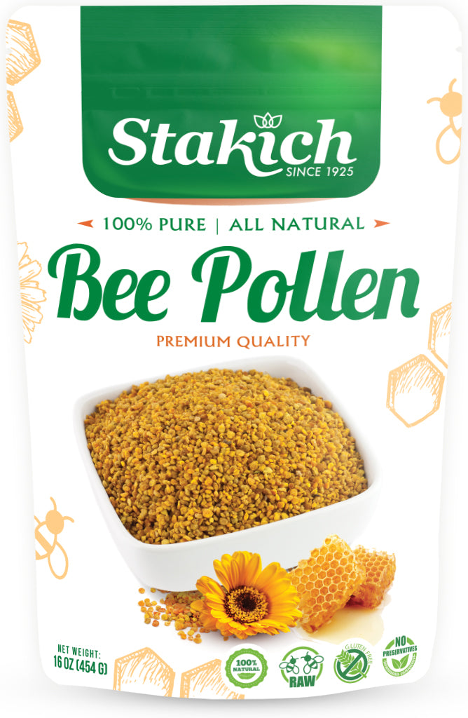 case of bee pollen granules 1 lb stakich